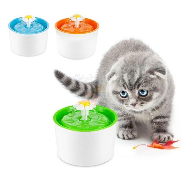 Automatic Cat Water Fountain or Dog Water Fountain 3 colors by Blissfactory Pet Supplies