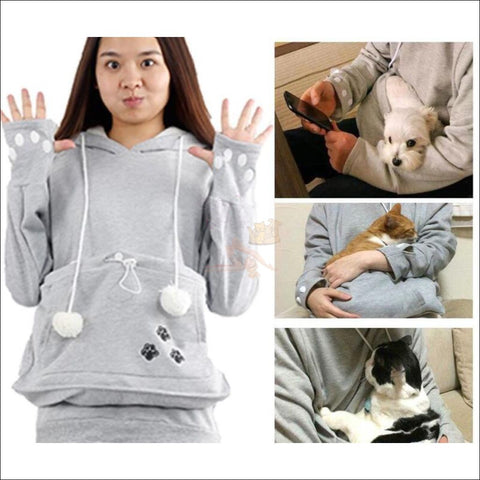 Cat Hoodie with Kangaroo Pouch by Blissfactory Pet Supplies