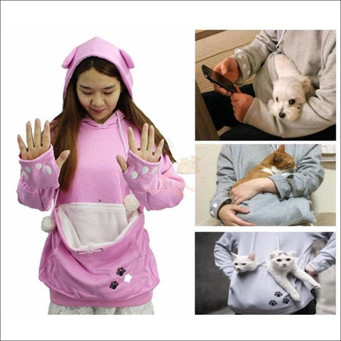 Cat Hoodie with Kangaroo Pouch different size by Blissfactory Pet Supplies