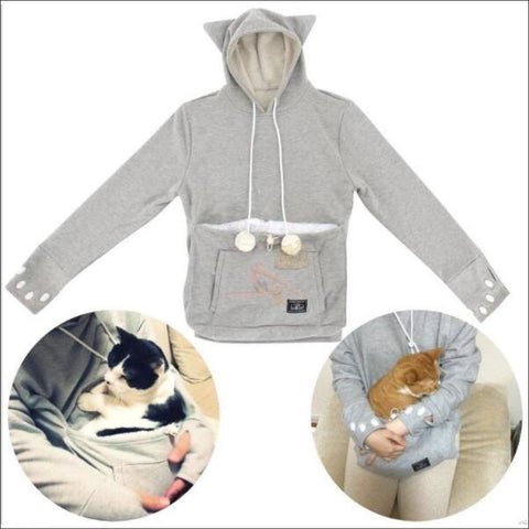 Cat Hoodie with Kangaroo Pouch desgin  by Blissfactory Pet Supplies