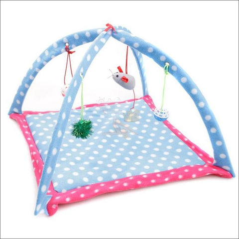 Cat Bed With Cat Toy blue heaven by Blissfactory Pet Supplies