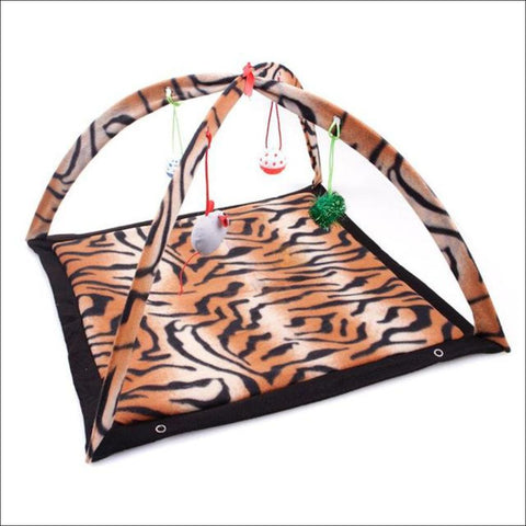 Cat Bed With Cat Toy tiger kingd  by Blissfactory Pet Supplies