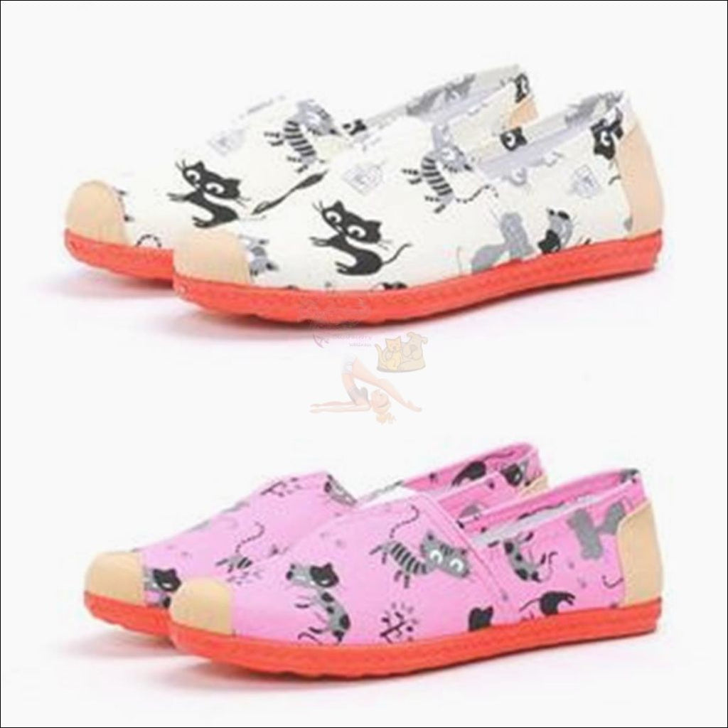 Cute Cat Canvas Loafers (Free Shipping!) Shoes