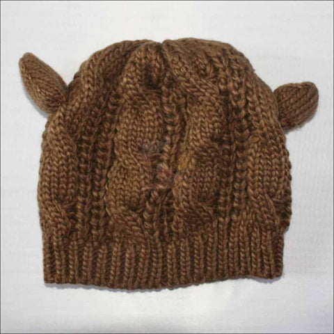 Lovely Cat Ear Beanie | Beanies for Women- Best winter hats coffee by Blissfactory Pet Supplies