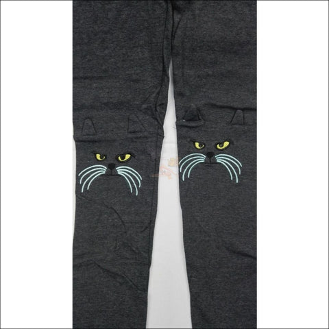 Image of Cute Cat Leggings for women by Blissfactory Pet Supplies