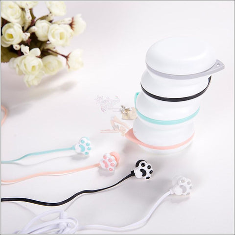 Image of Cute Cat Paw Earphones 4 colors by Blissfactory Pet Supplies
