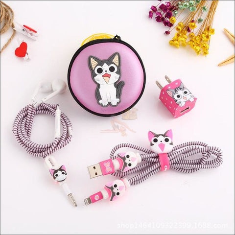 Cute Cat Paw iPhone Accessories, iPhone Charger Kitty Printed by Blissfactory Pet Supplies