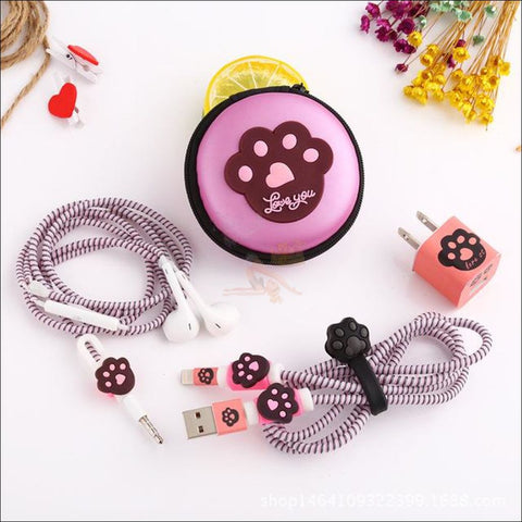 Cute Cat Paw iPhone Accessories, iPhone Charger Paw by Blissfactory Pet Supplies
