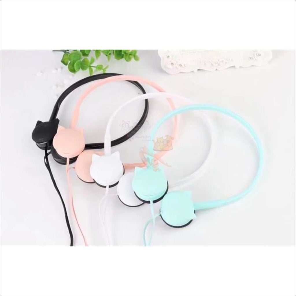 Cute Cat Ear  Headphones 4 colors by Blissfactory Pet Supplies