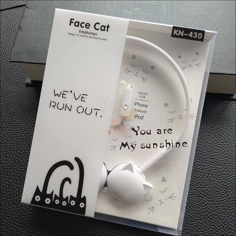 Cute Cat Ear  Headphones White by Blissfactory Pet Supplies