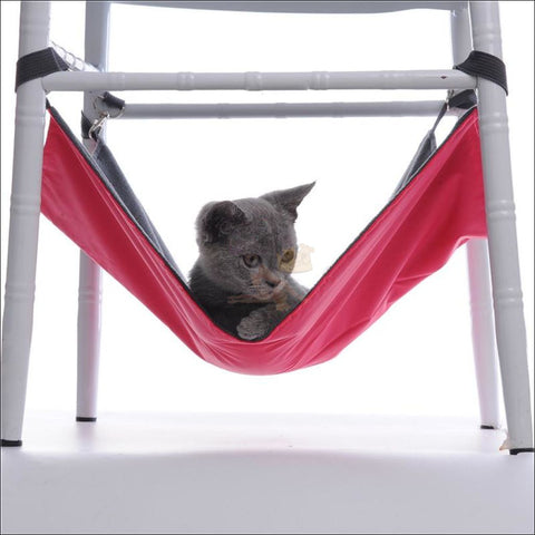 Cute Cat Hammock, Dog Hammock, Portable Hammock red by Blissfactory Pet Supplies
