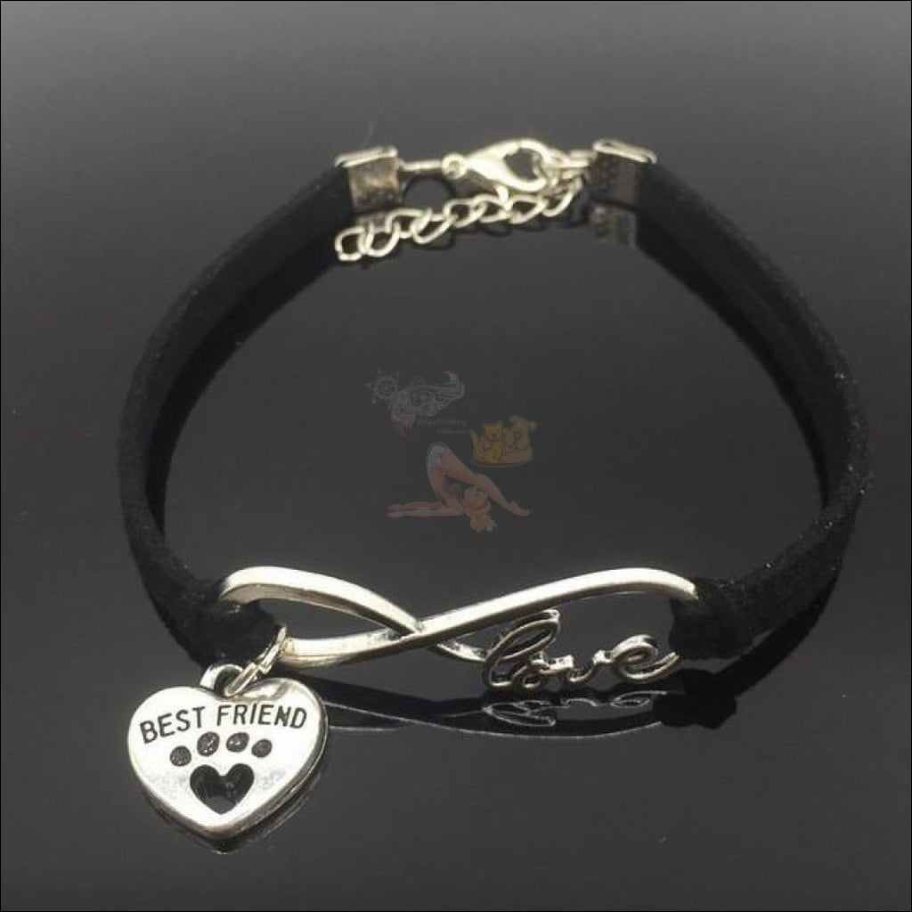 Cute Paws Charm Bracelets - Show Your Love! Black by Blissfactory Pet Supplies