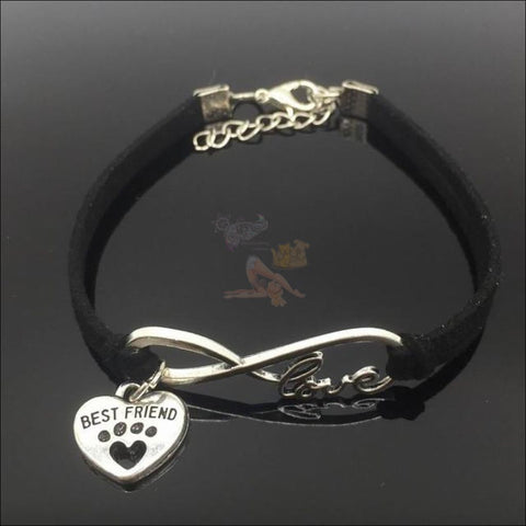 Image of  Cute Paws Charm Bracelets - Show Your Love! Black by Blissfactory Pet Supplies