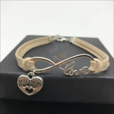 Image of  Cute Paws Charm Bracelets - Show Your Love! Beige by Blissfactory Pet Supplies