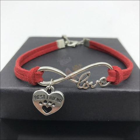 Cute Paws Charm Bracelets - Show Your Love! Red by Blissfactory Pet Supplies