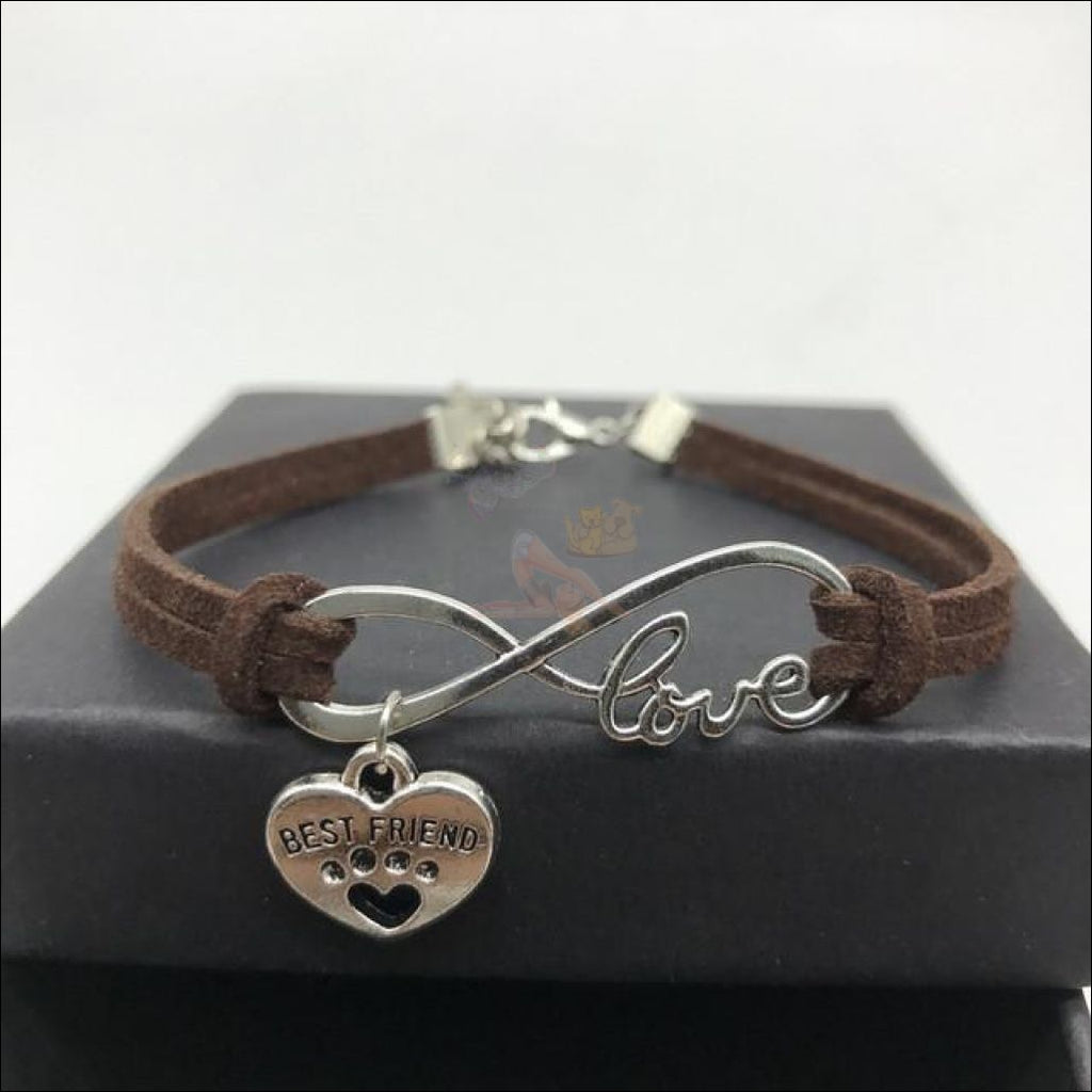 Cute Paws Charm Bracelets - Show Your Love! Dark Brown by Blissfactory Pet Supplies