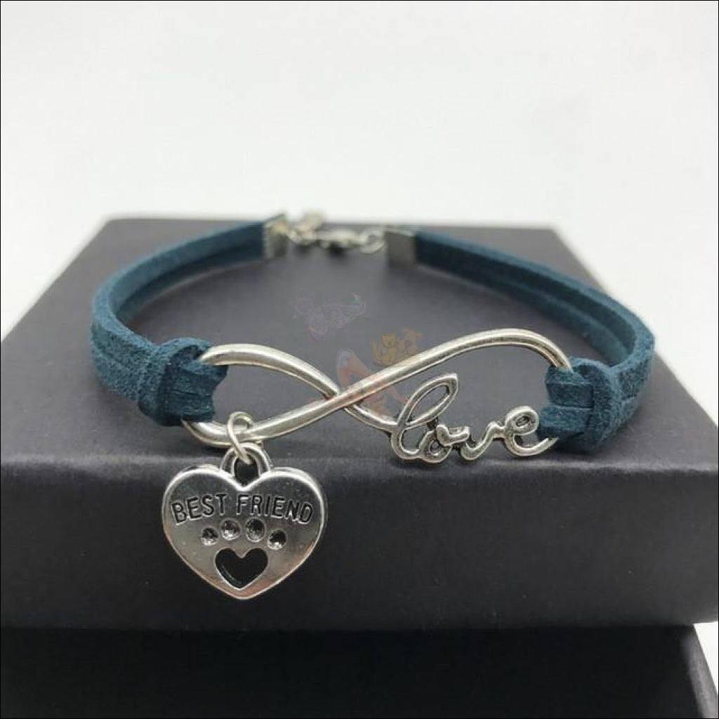 Cute Paws Charm Bracelets - Show Your Love! Navy by Blissfactory Pet Supplies