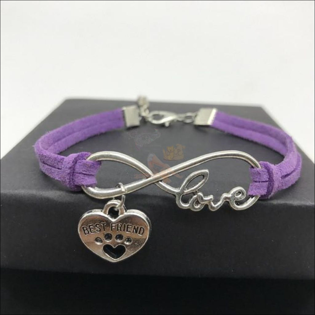 Cute Paws Charm Bracelets - Show Your Love! Purple by Blissfactory Pet Supplies