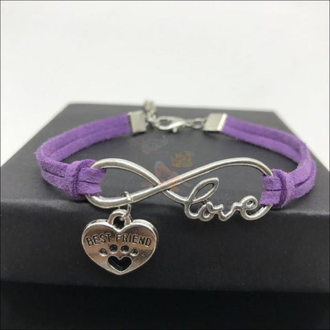 Image of  Cute Paws Charm Bracelets - Show Your Love! Purple by Blissfactory Pet Supplies