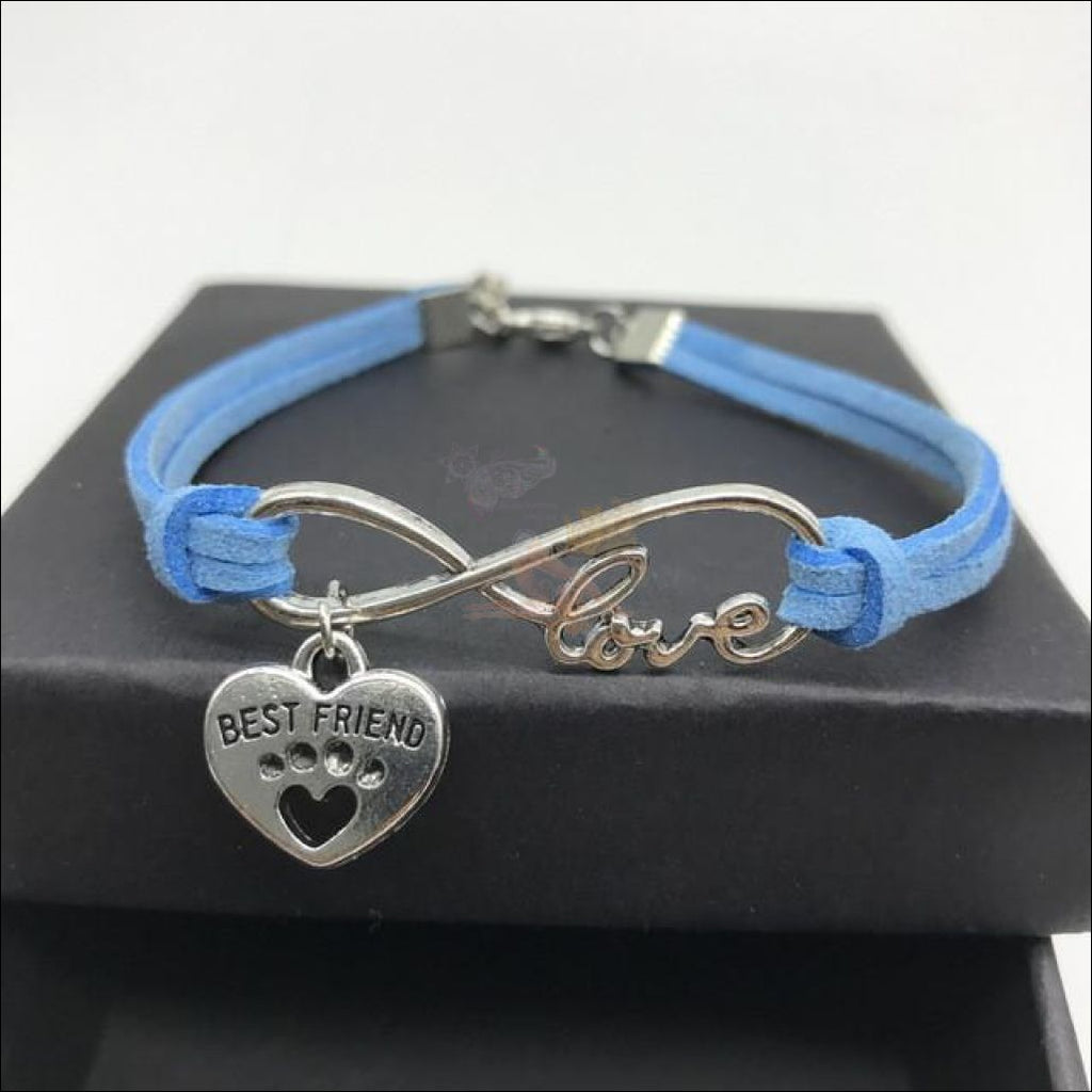 Cute Paws Charm Bracelets - Show Your Love! Blue by Blissfactory Pet Supplies