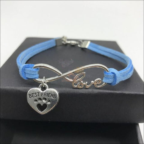 Image of  Cute Paws Charm Bracelets - Show Your Love! Blue by Blissfactory Pet Supplies