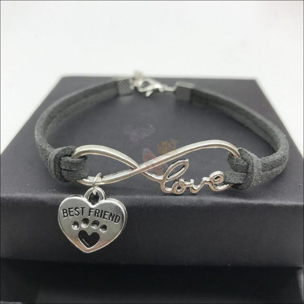 Cute Paws Charm Bracelets - Show Your Love! Gray by Blissfactory Pet Supplies