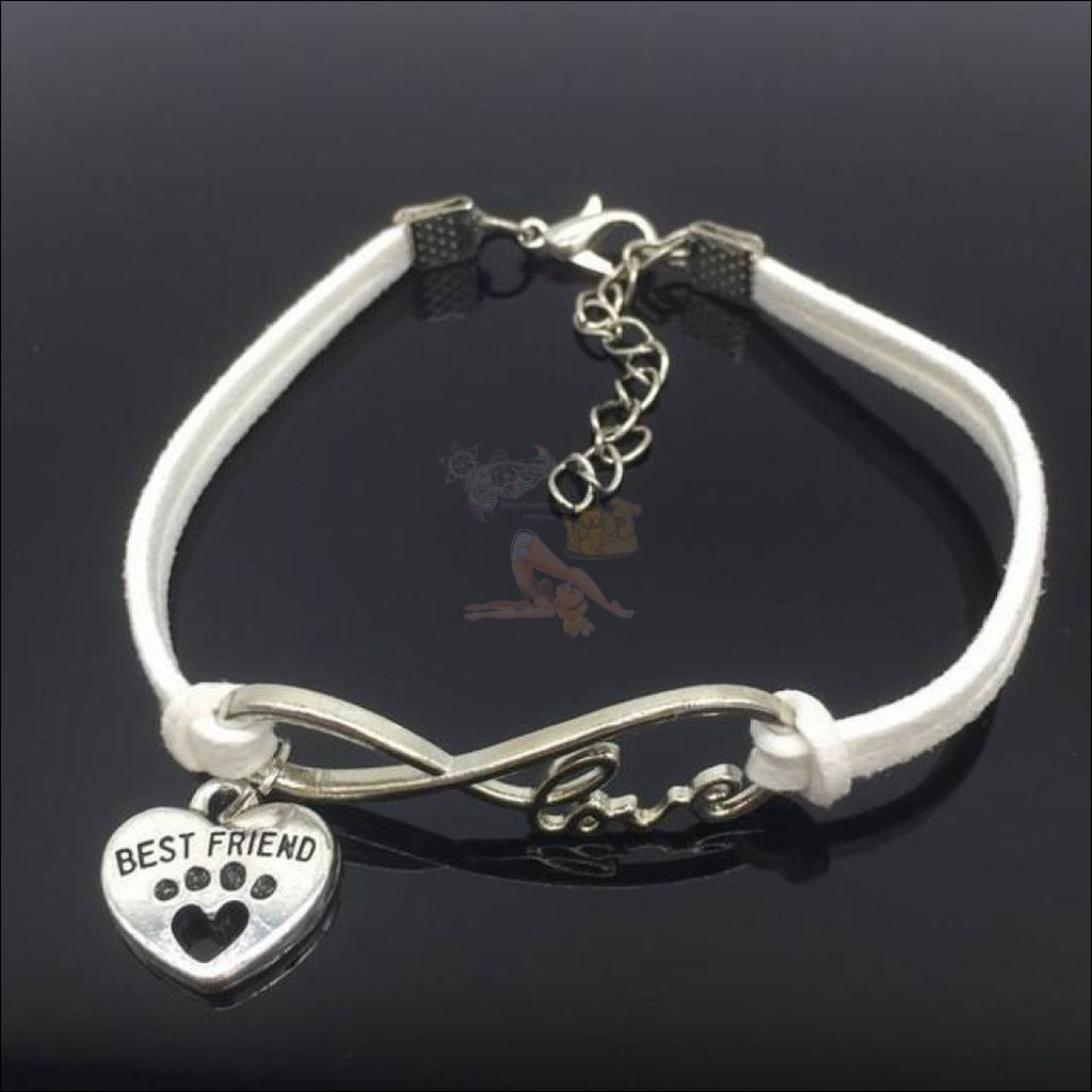 Cute Paws Charm Bracelets - Show Your Love! White by Blissfactory Pet Supplies