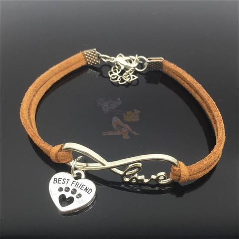 Cute Paws Charm Bracelets - Show Your Love! Light Brown by Blissfactory Pet Supplies