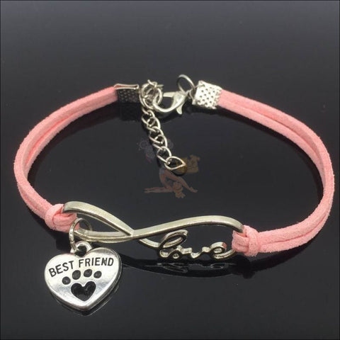 Cute Paws Charm Bracelets - Show Your Love! pink by Blissfactory Pet Supplies