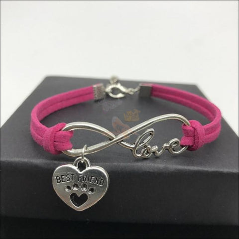 Cute Paws Charm Bracelets - Show Your Love! Hot Pink by Blissfactory Pet Supplies