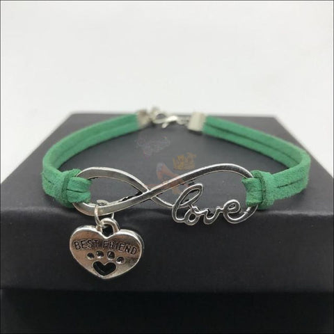 Cute Paws Charm Bracelets - Show Your Love! Green by Blissfactory Pet Supplies