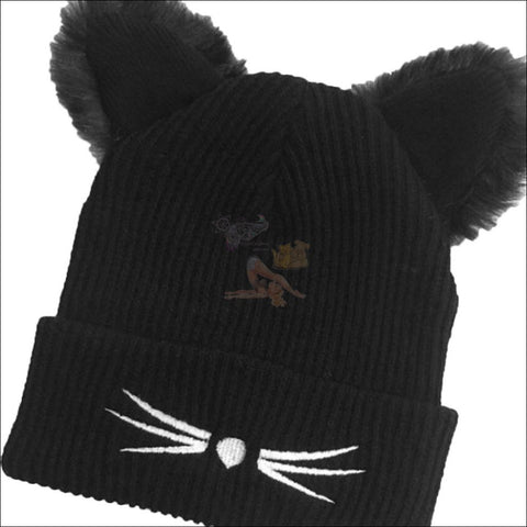 Image of Cute & Sexy Cat  Beanie For Women material by Blissfactory Pet Supplies