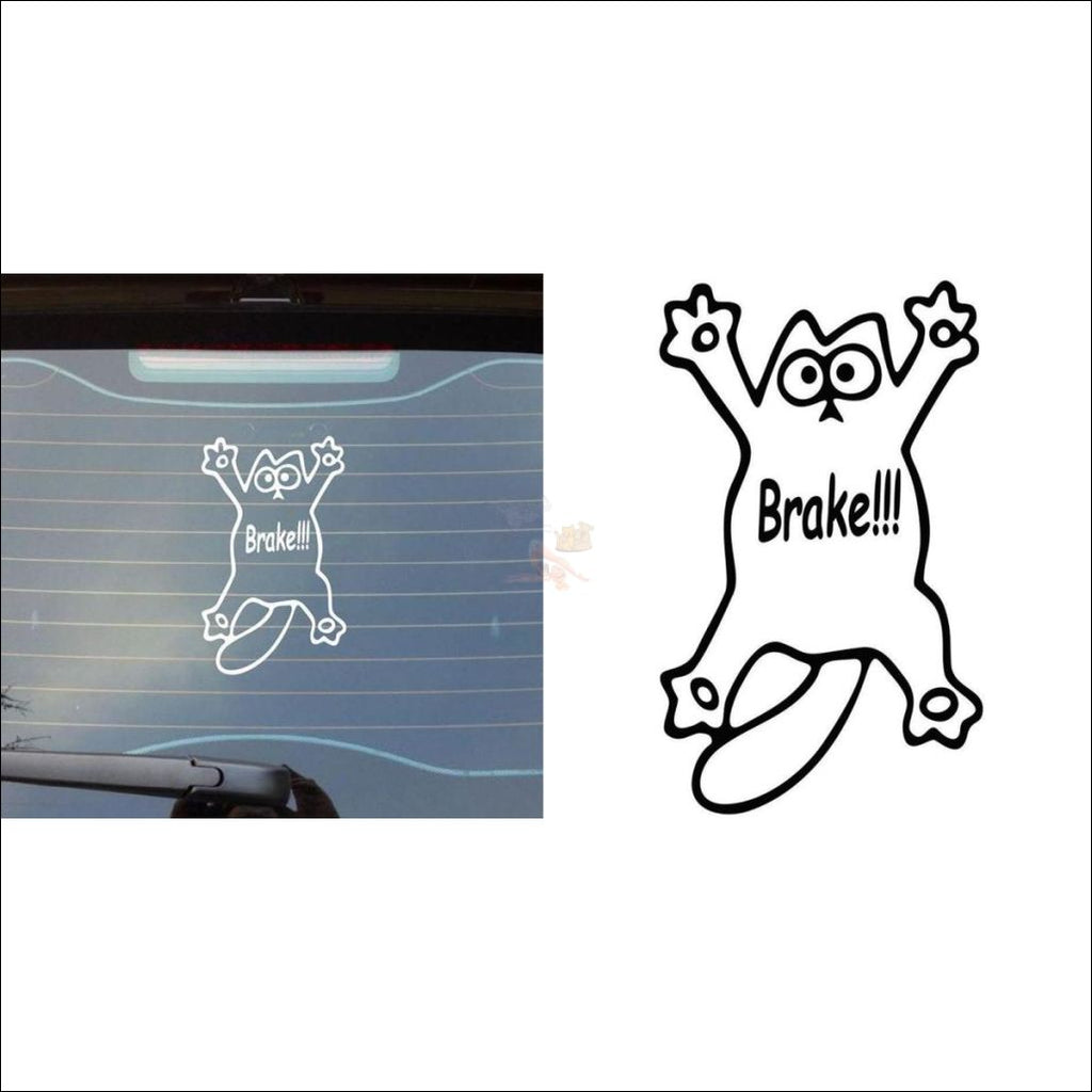 Cute Simon's Cat Vinyl Sticker - Brake!