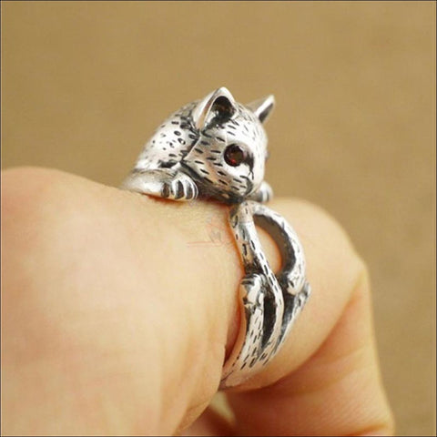 Cute Slinky Cat Ring (Free Shipping)