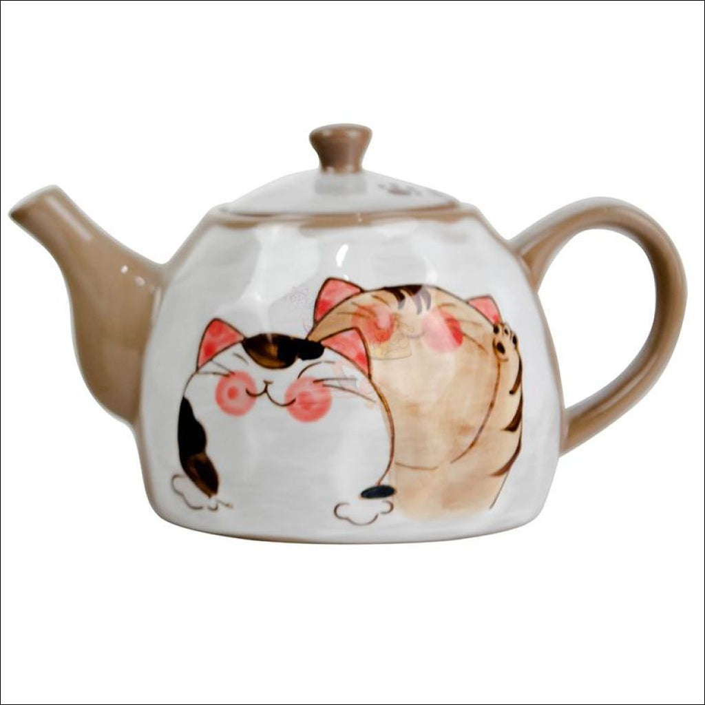 Divine Japanese Hand-Painted Kitty Coffee/tea Pot & Cups Sets Only And