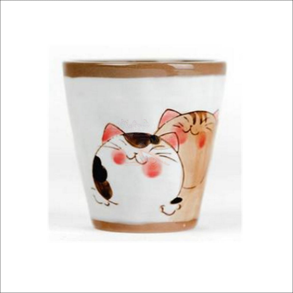 Divine Japanese Hand-Painted Kitty Coffee/tea Pot & Cups Sets Cup Type 2 And