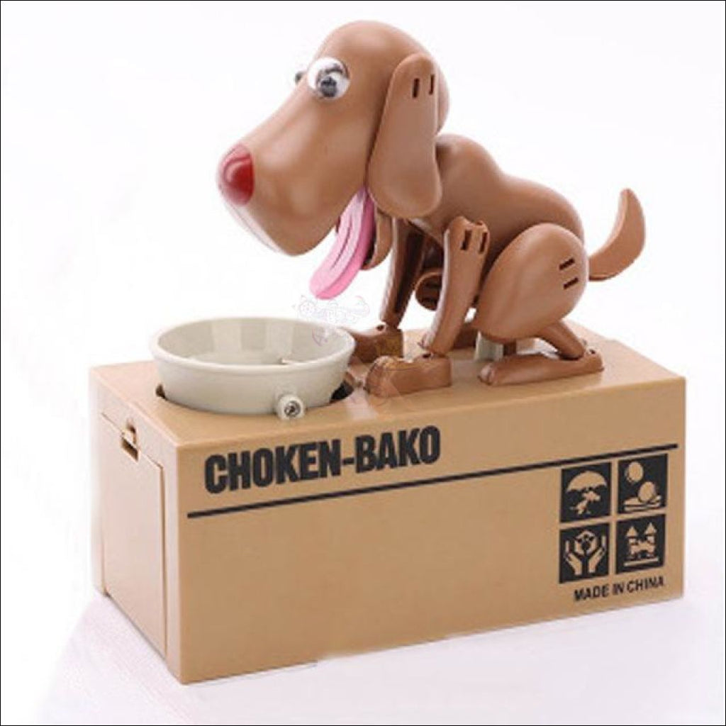 Doggy Coin Bank - Save More Money For Treats! Brown Dog Box