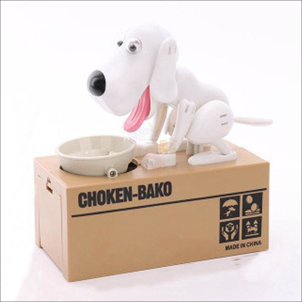 Doggy Coin Bank - Save More Money For Treats! White Dog Box