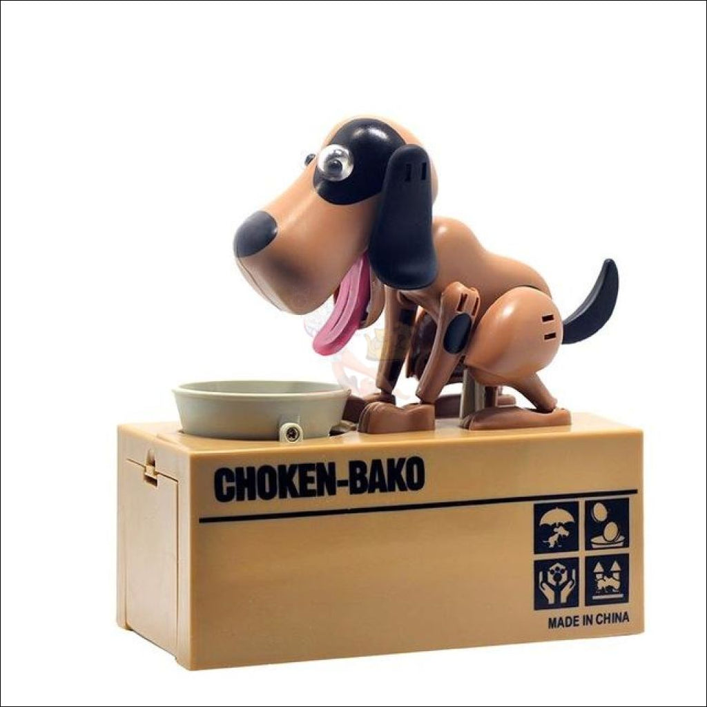Doggy Coin Bank - Save More Money For Treats! Black And Brown Dog Box