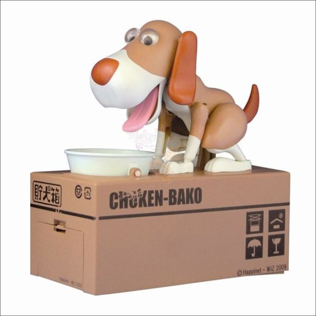 DOGGY COIN BANK - Best piggy bank Brown and White by Blissfactory Pet Supplies