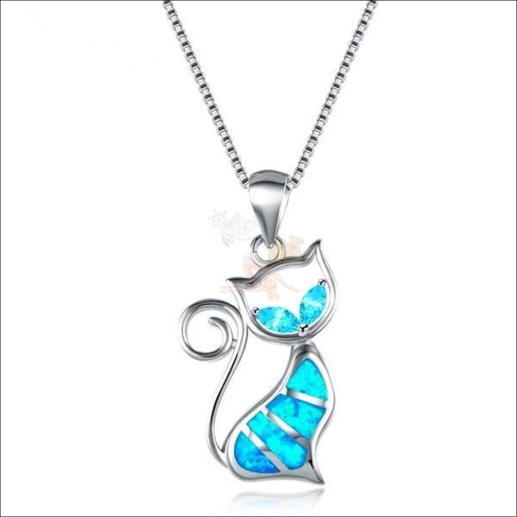 Elegant  Cat Diamond Necklace cat pendant  by Blissfactory Pet Supplies