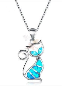 Elegant Aristocat Necklace (High Quality 925 Sterling Silver Filled Blue Fire Opal)