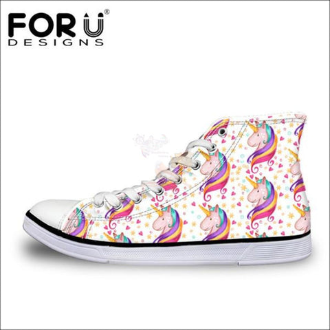 Image of Fantastic 3D Unicorn Shoes for Women- casual shoes White by Blissfactory Pet Supplies