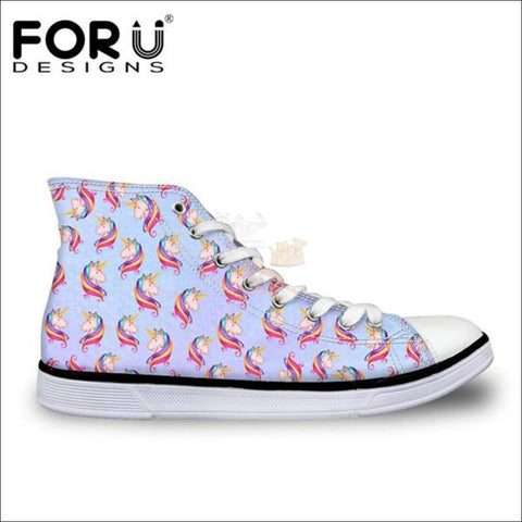 Image of Fantastic 3D Unicorn Shoes for Women- casual shoes Red Sky Blue by Blissfactory Pet Supplies