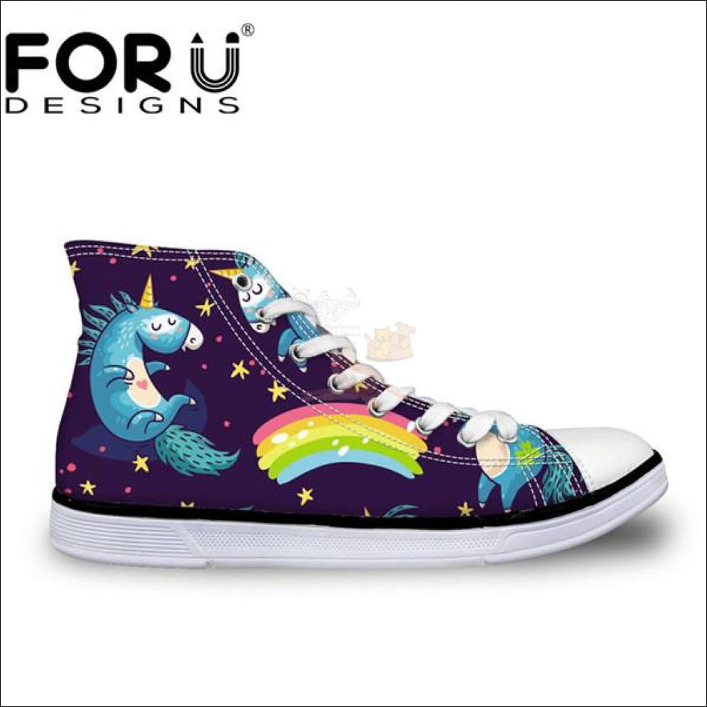 Fantastic 3D Unicorn Design Shoes For Women Cc1686Ak / 11