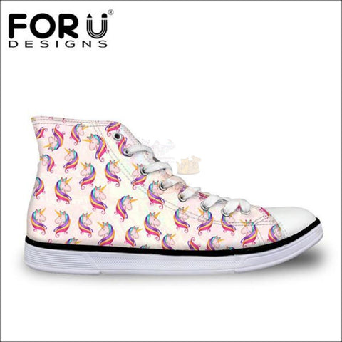 Image of Fantastic 3D Unicorn Shoes for Women- casual shoes White Pink by Blissfactory Pet Supplies