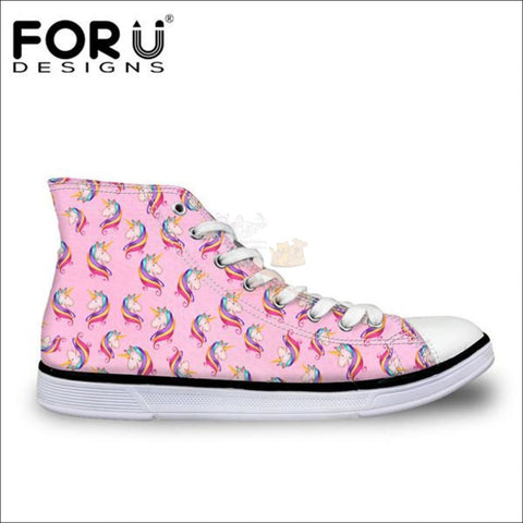 Image of Fantastic 3D Unicorn Shoes for Women- casual shoes Pink by Blissfactory Pet Supplies