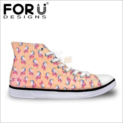 Image of Fantastic 3D Unicorn Shoes for Women- casual shoes orange by Blissfactory Pet Supplies