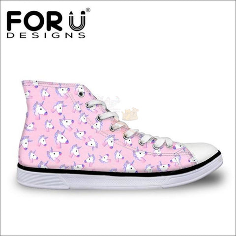 Image of Fantastic 3D Unicorn Shoes for Women- casual shoes Baby Pink by Blissfactory Pet Supplies