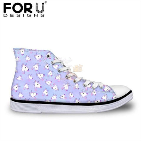 Image of Fantastic 3D Unicorn Shoes for Women- casual shoes Sky Blue by Blissfactory Pet Supplies